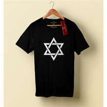 Camiseta Camisa Blusa Masculino Evangélica, Estrela De Davi
