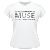 Baby Look Muse Banda Músicas Camiseta Feminina
