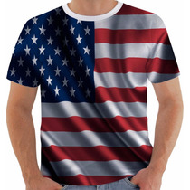 Camiseta Bandeira Usa 1 Estados Unidos Eua Flag Color