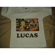 Camiseta Turma Do Chaves Infatil Juvenil Aniversario