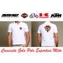 Camisetas Esportiva Masculina Gola Polo Moto Suzuki Srad