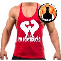 Regata Cavada Masculina P/ Academia Musculação Fitness Top