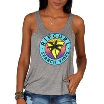 Camiseta Regata Rip Curl Search Vibe Cinza