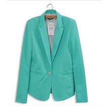Blazer Fashion Azul Turquesa Tamanho G