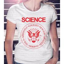 Camiseta Feminina Science Sátira Dos Ramones Coleção 2016