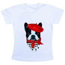Camiseta Baby Look Feminina - Buldog Literalmente Francês