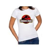 Camiseta Feminina Baby Look Jurassic Park World 100% Algodão