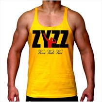 Camiseta Zyzz Regata Super Cavada Musculação Academia Animal