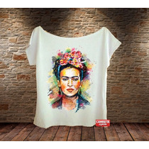 Camiseta Feminina Frida Kahlo Portrait Color