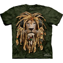 Camiseta Leão Rastafari Dj -the Mountain - Infantil