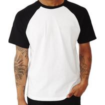Camisetas Raglan Manga Curta Lisa Malha Fria 100% Poliéster