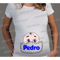 Camiseta De Gestantes Grávidas Bebês Espiando Blusa Bata