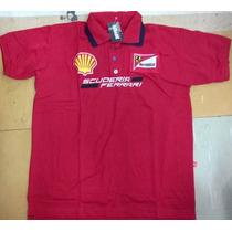 Kit 5 Camisetas Polo Ferrari Masculina