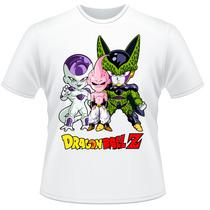 Camiseta Dragon Ball Z Freeza Majin Boo Cell Camisa