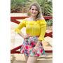 Blusa Cigana Amarela + Saia Estampada Verão