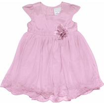 Vestido Infantil Em Tecido Com Tule Marisol