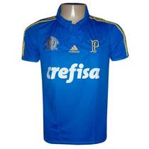 Camisa Palmeiras Centenário Azul Crefisa 2015