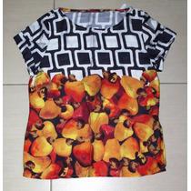 Blusa Carioca Fruta Caju