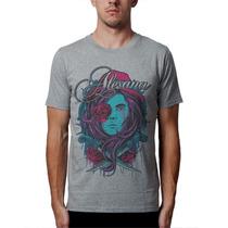 Camiseta Alesana Blusas Moletom Bandas Rock Metal Caveira