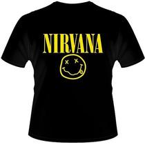 Camisetas Bandas Rock - Camisas Nirvana, Linkin Park, 5 Fdp.