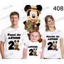 Lembrança De Aniversario Mickey Safari Camiseta Kit Com 3