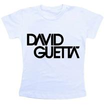 Camiseta Baby Look Feminina - David Guetta