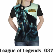 Camiseta Blusa Games League Of Legends Feminina Lol 037