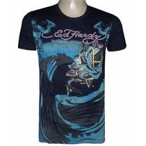 Camiseta Christian Audigier Preta Ref Ch84