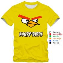 Camisa Camiseta Angry Birds Jogo Passarinhos 100% Algodão