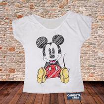 Blusa Feminina Gola Canoa Desenho Camiseta Legal