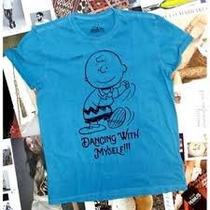 Camiseta Ellus Kids Charlie Brown - Azul