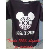 Camisetas Rosa De Saron Camisas Evangélica Jesus Deus Banda