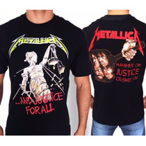 Camiseta De Banda - Metallica - And Justice For All