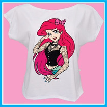 Blusa Camiseta Princesas Tatuadas, Disney, Tattoo, Personali