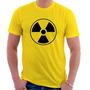 Camiseta Bomba Nuclear - Perigo - Engenharia - 100% Algodão