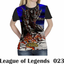 Camiseta Blusa Games League Of Legends Feminina Lol 023