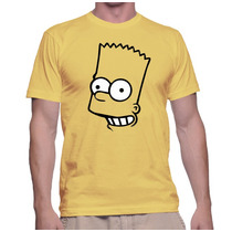 Camiseta Bart Simpsons Face Camisas The Simpsons