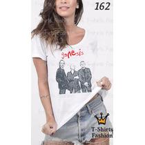 Camiseta T-shirt Genesis Fashion Feminino Blusa Baby Look