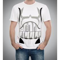 Camiseta Babylook Star Wars Stormtrooper Dark Side Body Bust