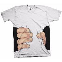 Camisetas Engraçadas Sátiras Humor 3d Mão Esmagando Esmaga