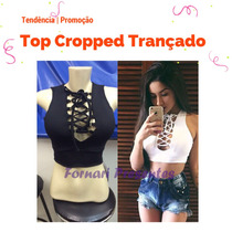 Blusa Blusinha Top Cropped Regata Curta Mini Blusa