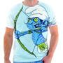 Camisa, Camiseta Geek Smurf Zumbi Games Séries Estampada 33