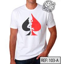 Poker Camiseta Ref:103 Meia Malha Pentiada 100% Algodão