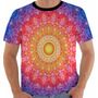 Camiseta Hippie - Color - Vitral - Arte - Anos 60