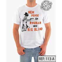Poker Camiseta Ref:113 Meia Malha Pentiada 100% Algodão