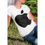 Camiseta Gola Careca Menina Maça Apple Steve Jobs