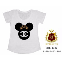T-shirt Camiseta Minnie Fashion Personalizada Feminina