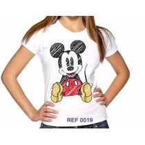 T-shirts Feminina Mickey 19 Atacado Camisetas Personalizadas