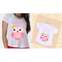 Camisetas Tia E Sobrinha Coruja