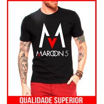 Camiseta Banda De Rock Maroon 5 Sugar Musicas Pop Rock